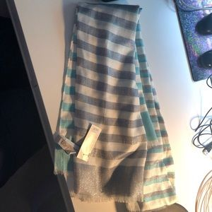 Loft Outlet Blue Sparkly Scarf New